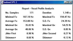 Speech Studio - vocal profile analysis